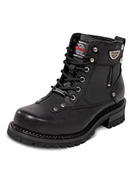Milwaukee Motorcycle Clothing Company Mens Outlaw Motorcycle Boots Black, Size 13