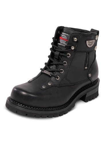 Milwaukee Motorcycle Clothing Company Men's Outlaw Motorcycle Boots (Black, Size 8.5)