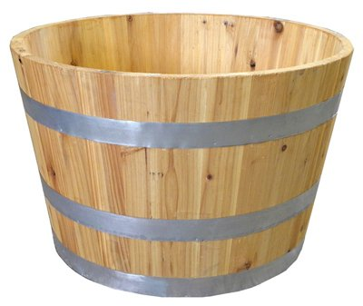 Real Wood Products G3054 Half Wine Barrel