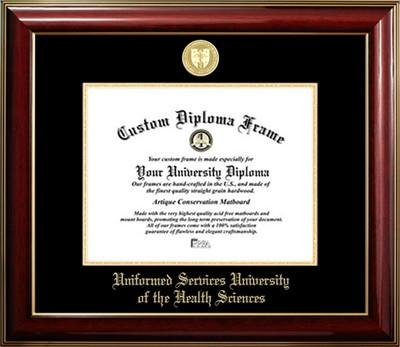 Uniformed Services University of the Health Sciences Gold Medallion Diploma Frame by Diploma Frame Deals (Image #1)