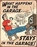 Poster Revolution Schonberg - Happens in Garage Tin Sign 12 x 16in