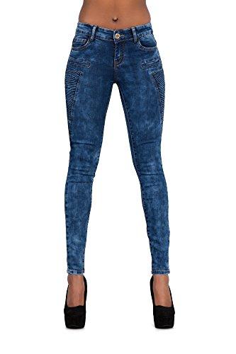 Donna Biker Navy Lustychic Jeans Jean Blue wAxqB5BEI