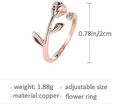 Amazon.com: Artmiss - Anillo de compromiso con flores para ...