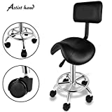 Artist Hand 360 Degrees Swivel Adjustable Hydraulic Hair Style Salon Stool Chair Tattoo Barber Stool Chairs With Backrest