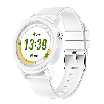 Cycle Crafts DK02 Reloj Inteligente con Pantalla Completa para Hombre y Mujer, con Monitor de presión Arterial, Color Blanco: Amazon.es: Deportes y aire ...