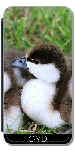 Leder Flip Case Tasche Hülle für Apple Iphone 7 Plus / 8 Plus - Ente Wasservogel Liebe by WonderfulDreamPicture