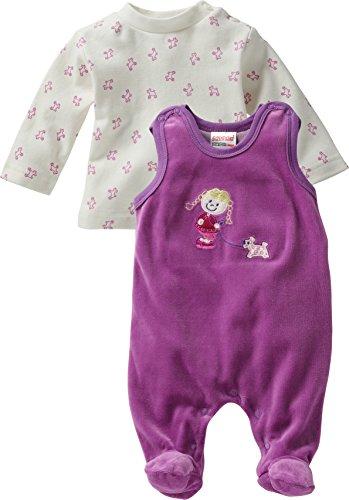 Schnizler Baby - Mädchen Strampler Nicki, 2 - tlg. Set, Langarmshirt, Gr. 50, Violett (original 900)