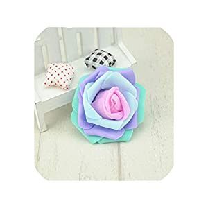 10PCS/Lot 7cm Mini PE Foam Rose Flower Head Artificial Rose Flowers Ball Scrapbookin, 15