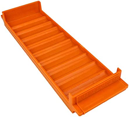 Orange Rolled Coin Plastic Storage Tray 1 Tray Quarters