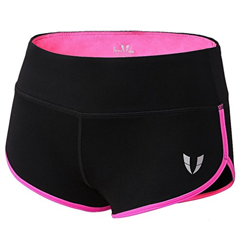 FIRM ABS Womens Yoga Workout Shorts Exercise Mini Hot Shorts Pink M