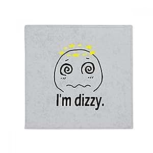 Dizzy negro Cute Chat Emoji patrón antideslizante alfombra Pet Square baño salón cocina puerta 60/50cm regalo