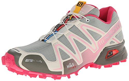 Salomon Women's Speedcross 3 CS Trail Running Shoe, Green Clay/Light Grey/Sakura Pink, 7 M US