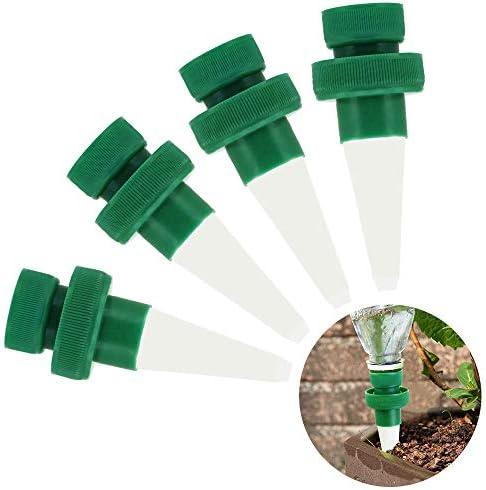 DECARETA 4 Stück Automatisch Keramische Pflanzen Bewässerung Set Kegel Tropfbewässerung für Topfpflanzen,Zimmerpflanzen, Blumen