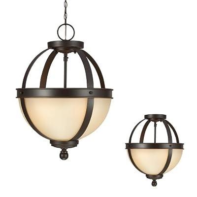 Sea Gull Lighting 7790402 Sfera 2 Light Semi-Flush Ceiling Fixture,