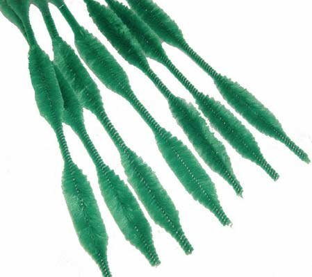 Bumpy Chenille Stems - Grass Green Bumpy Chenille Stems 72 Total (6 Bags of 12pc)