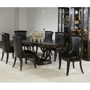 Amazon.com: American Drew Bob Mackie 8 Piece Oval Dining Room Set in ...