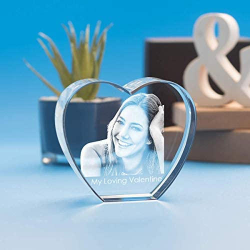 Heart Crystal, 3D Laser Engraved with Your Custom Photo for Valentine s Day, Anniversary, Mother s Day and All Holidays