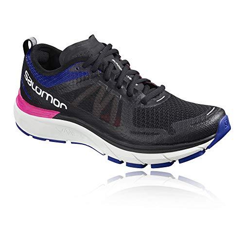 Salomon Sonic RA Max Running Shoes Black/Surf The Web/Pink Glo Womens Sz 8.5