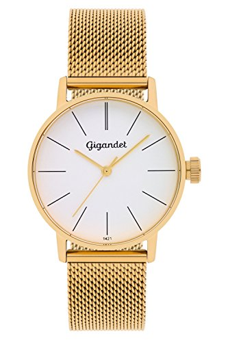 Gigandet Women's Quartz Watch Minimalism Analog Stainless Steel Bracelet Gold Silver G43-007