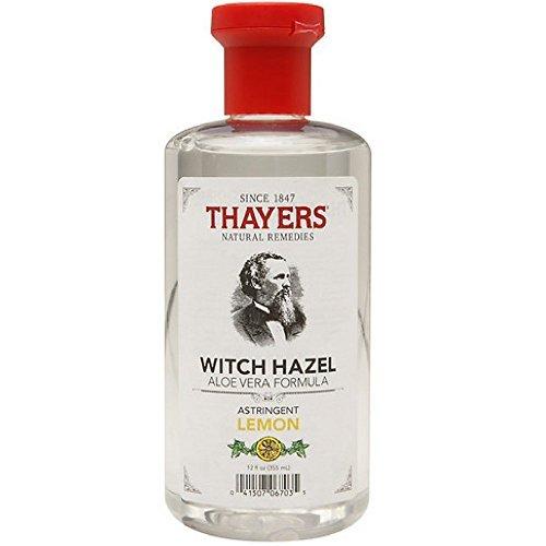 Thayers Witch Hazel Astringent with Aloe Vera Formula, Lemon, 12 Fluid Ounce (Pack of 2) (Witch Wholesale Hazel)