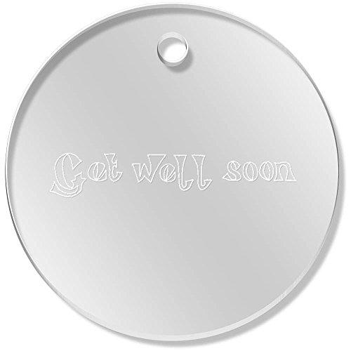Well Charm Get (Azeeda 11 x 34mm 'Get Well Soon' Clear Pendants / Charms (PN00024859))