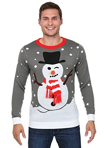 Images Of Snowman Costumes (Snowman with Scarf Christmas Sweater X-Large)