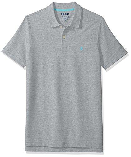 - IZOD Men's Advantage Performance Solid Polo (Regular Fit), Light Grey, Medium Slim