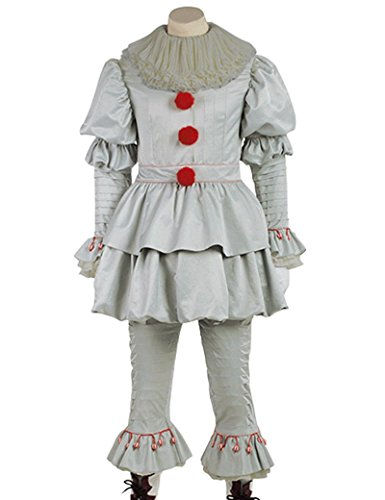 (Red Dot Boutique 8037 - IT Movie 2017 Pennywise Clown Halloween Costume Outfit for Adults (4))