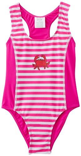 Playshoes Baby - Mädchen Schwimmbekleidung, gestreift 460103 Badeanzug Krebs von Playshoes mit UV-Schutz nach Standard 801 und Oeko-Tex Standard 100, Gr. 86/92, Mehrfarbig (900 original)