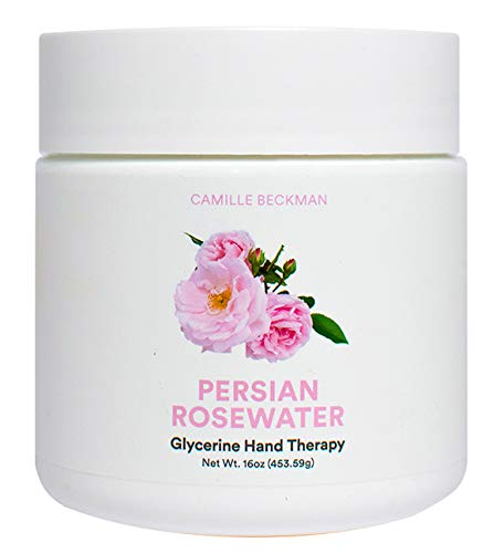 Camille Beckman Glycerine Hand Therapy Cream, Persian Rosewater, 16 Ounce