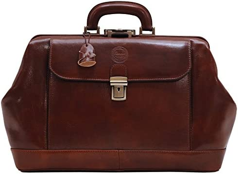 Cenzo Leather Doctor Style Briefcase Bag