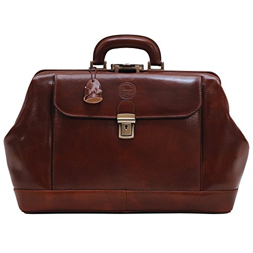 Cenzo Leather Doctor Style Briefcase - Style Doctor Leather Bag