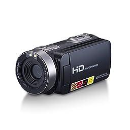 SONIDA Video Camcorder, 1080P IR Night-Shot Video Camera, Infrared Shooting, Portable (Black)