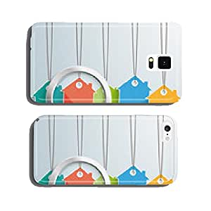 5 Colored Price Sticker Houses Loupe cell phone cover case iPhone5