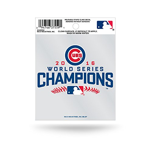 MLB Chicago Cubs 2016 World Series Champions Small Static Cling/Sticker World Series Champions