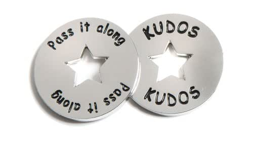 Motivational Kudos Tokens - Set of 10 Dual Sided Recognition Favors