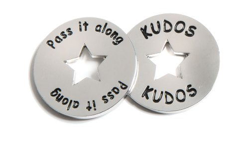 Motivational Kudos Tokens - Set of 10 Dual Sided Recognition Favors (Congrats On A Job Well Done)