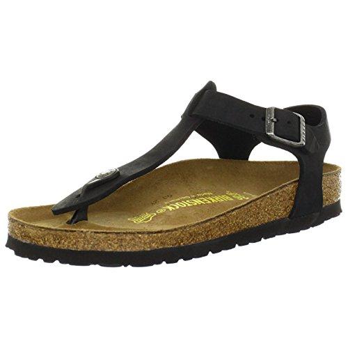 Birkenstock Women's Kairo Leather T-Strap Sandal,Black,38 EU/7 M US by Birkenstock