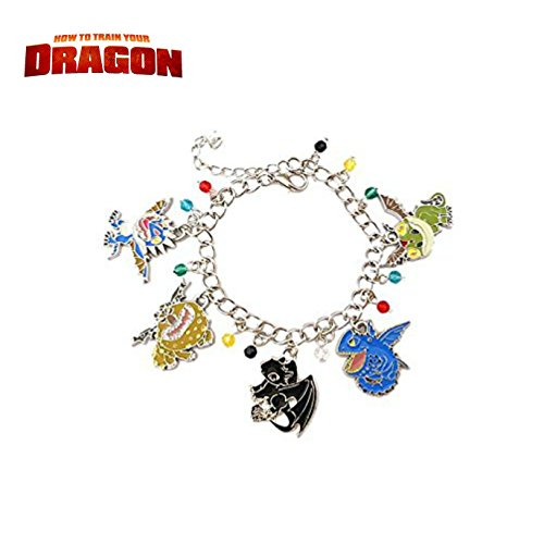 Athena Brand Movie Cartoon How To Train Your Dragon Cute Characters Charm Bracelet In Gift - How Costume Make To A Police