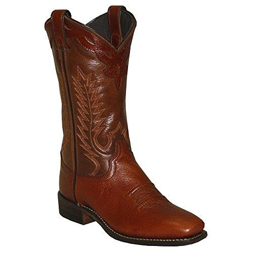 Abilene Women's Western Cowgirl Boot Square Toe Brown 8.5 M US
