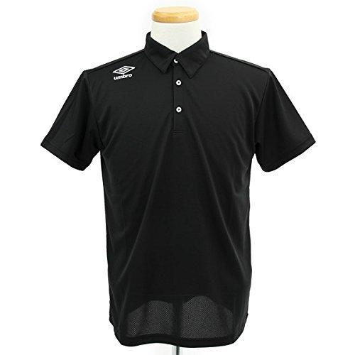 どう?る引数アンブロ(UMBRO) ワンポイントポロシャツ UCS7456 BKWH ブラック/ホワイト O