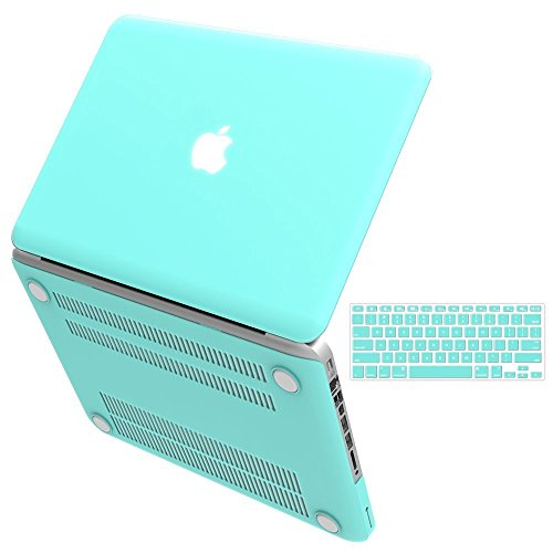 """iBenzer Basic Soft-Touch Series Plastic Hard Case & Keyboard Cover for Apple Old Macbook Pro 13-inch 13"""" with CD-ROM A1278 (Turquoise)"""