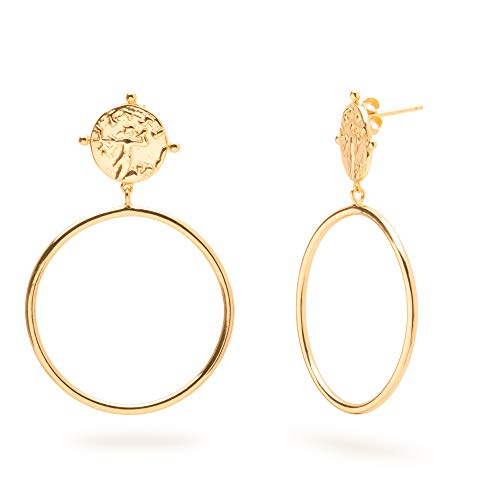 - Timeless 18-Karat Gold Vermeil Earrings (Riley Hoop Drop Earring)