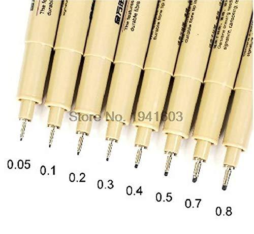 (Multi Function Pen - Set (8 different pcs) sketch&Comic needle pen Multi Function drawing pen painting supplies 0.05/0.1/0.2/0.3/0.4/0.5/0.7/0.8mm - by VIVIAN)