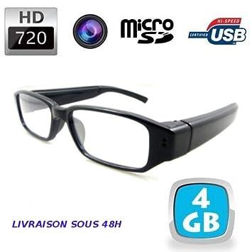 Lunettes de vue mini caméra espion HD 720P +4Go  Amazon.fr  Informatique 782793b95b95