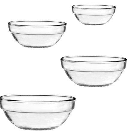 4 Pc. Nesting Bowl Set (1 qt./.9L , 1.5 qt/1.4L , 2.5 qt./2.4L & 3.5 qt./3.2L (Anchor Serving Bowl)