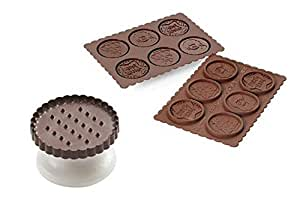 Silikomart 199256 molde para galletas con motivos - Moldes silicona amazon ...