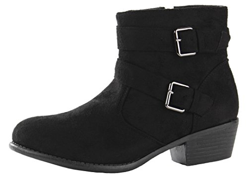 Style Heel 3 Boots Platform Black Suede 31 HIGH Womens Size Ladies Heeled Winter POP MID Block Ankle 8 Booties Chelsea aRXpq