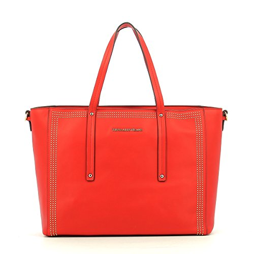 Trussardi Jeans 75b00184-1y000038, Borsa a Mano Donna, 32x37x20 cm (W x H x L) Rosso