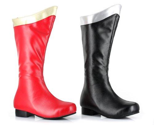 "ELLIE 101-SUPER 1"" Heel Superhero Boot Children, Red/ Gold,"